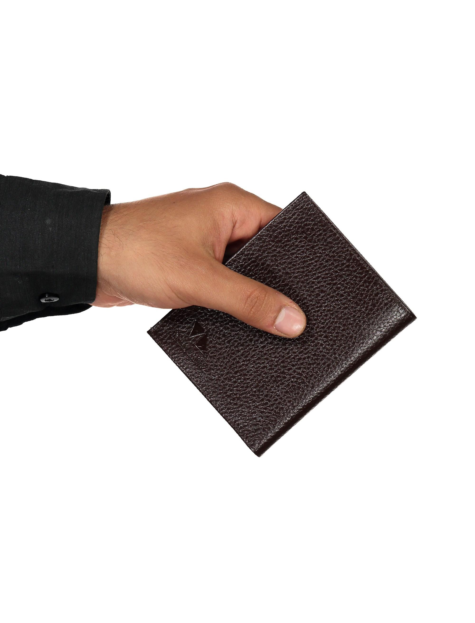 کیف پول چرم کتابی مردانه - چرم مشهد - قهوه اي - 6