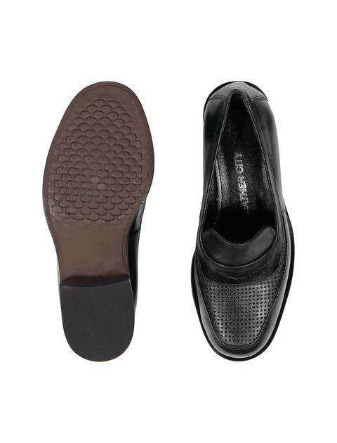 کفش چرم تخت زنانه - مشکي - 2