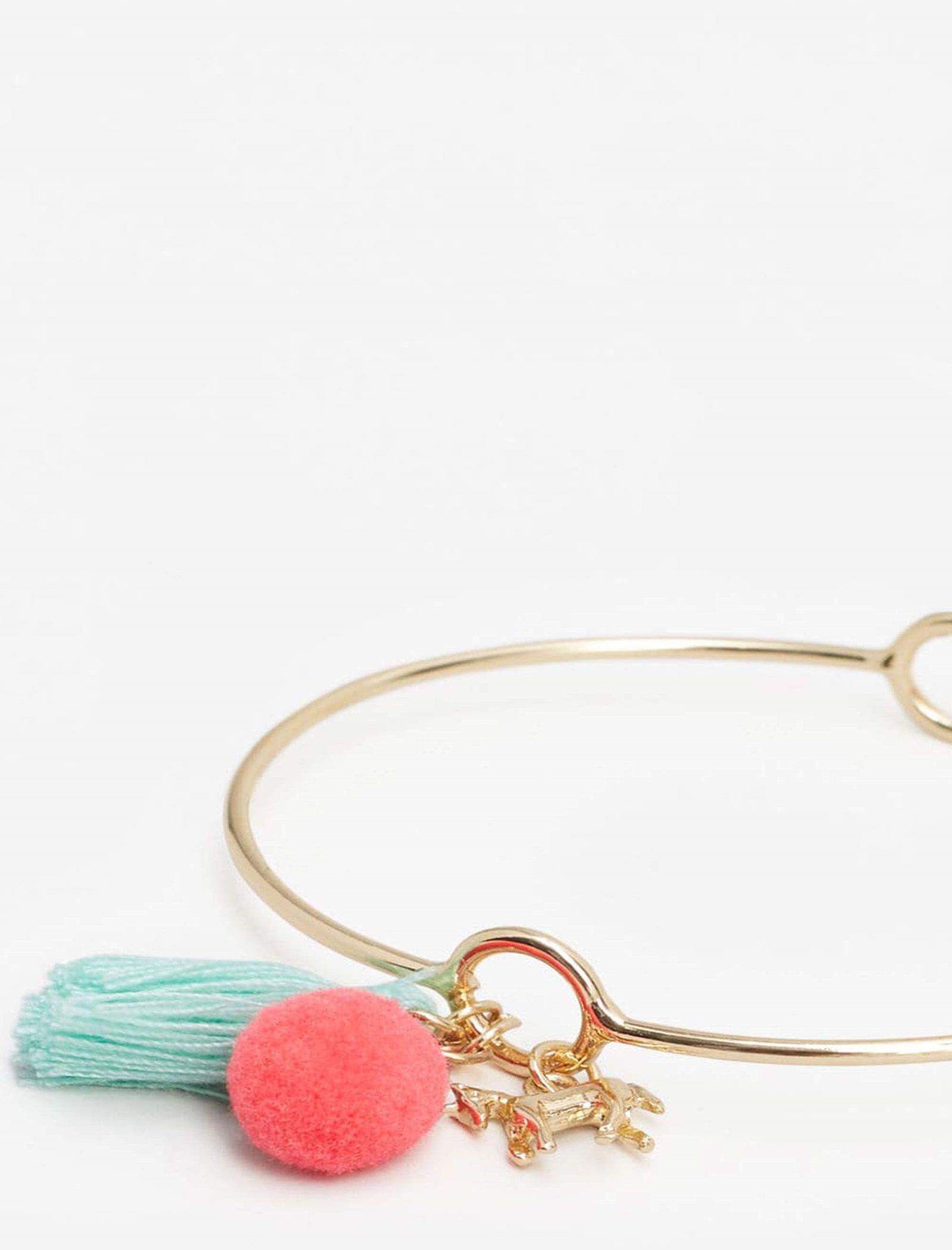 دستبند فلزی دخترانه - مانگو - طلايي - 2