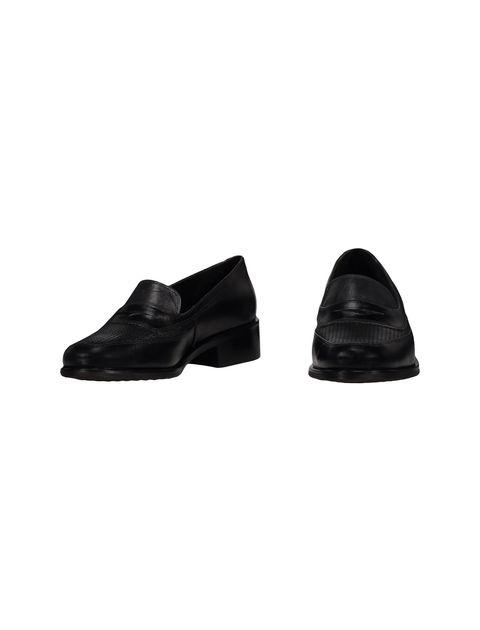 کفش چرم تخت زنانه - مشکي - 4