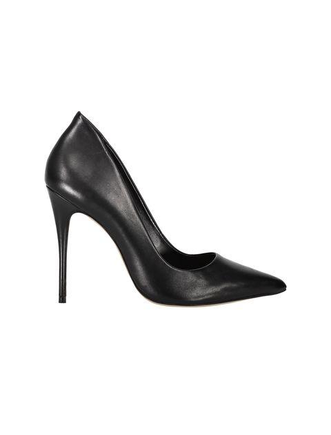 کفش پاشنه بلند چرم زنانه - مشکي - 6