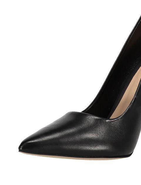 کفش پاشنه بلند چرم زنانه - مشکي - 5