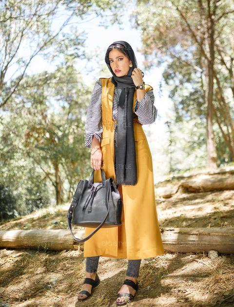 صندل چرم زنانه - مشکي - 11