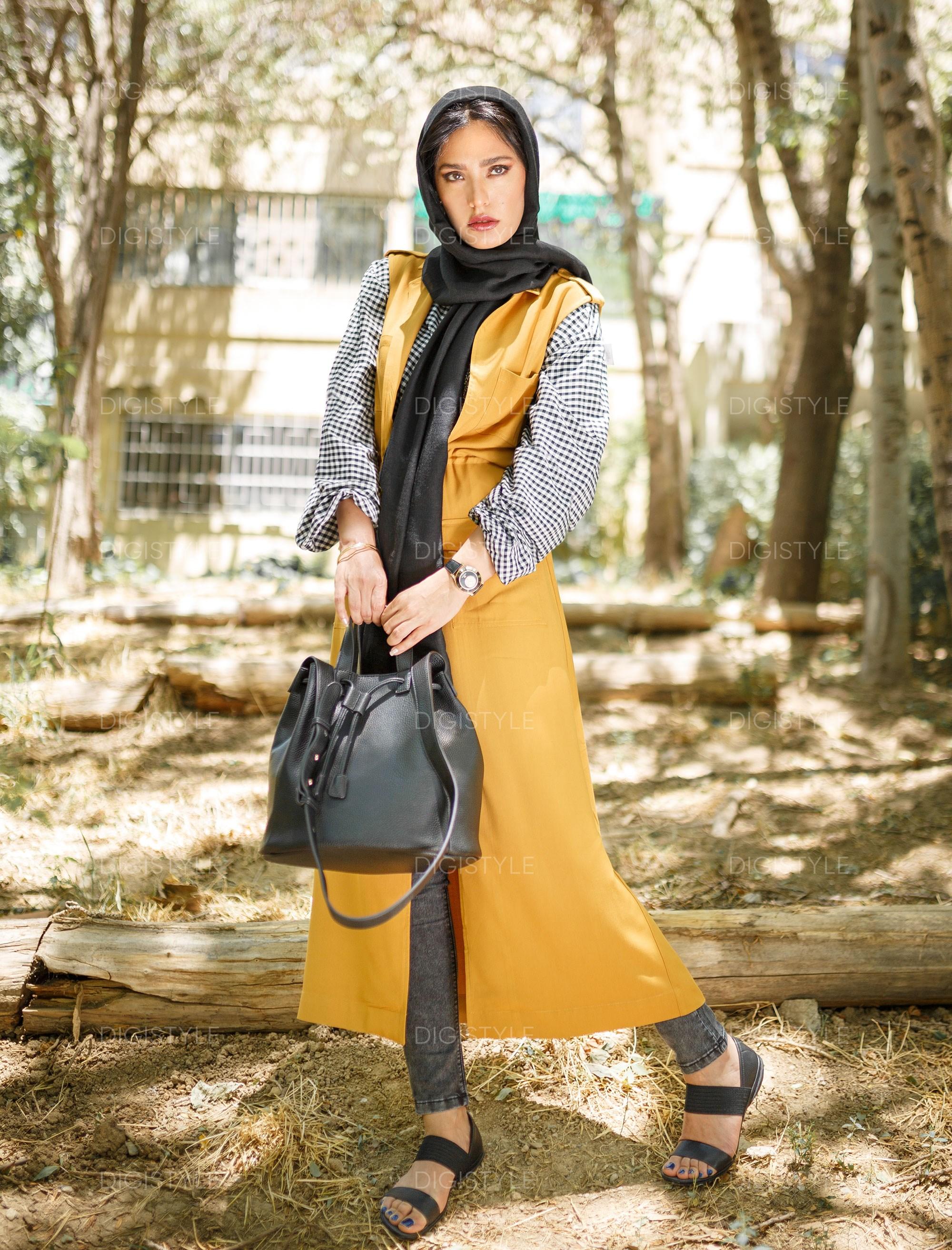 صندل چرم زنانه - کمپر - مشکي - 12