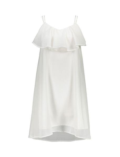 پیراهن کوتاه زنانه - سفيد - 1