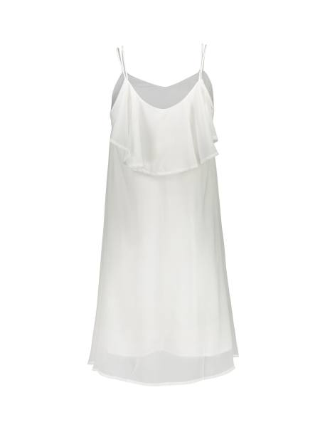 پیراهن کوتاه زنانه - سفيد - 2