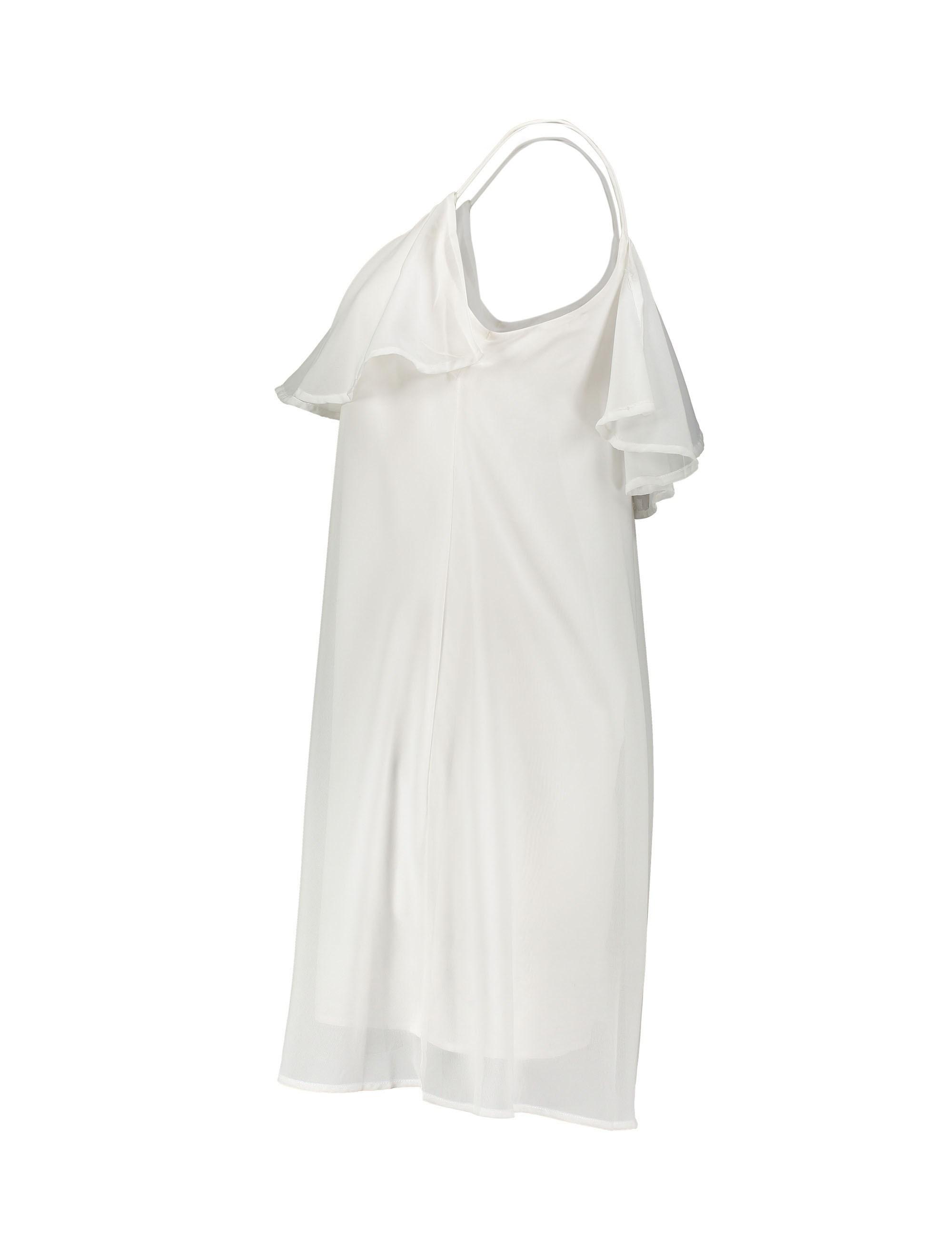 پیراهن کوتاه زنانه - سفيد - 3