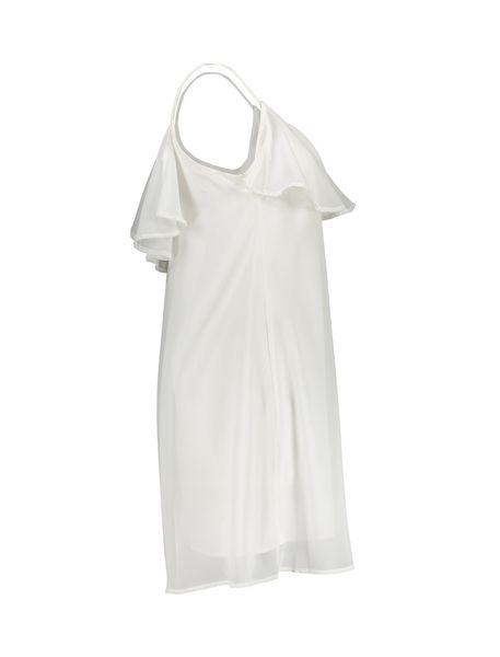 پیراهن کوتاه زنانه - سفيد - 4