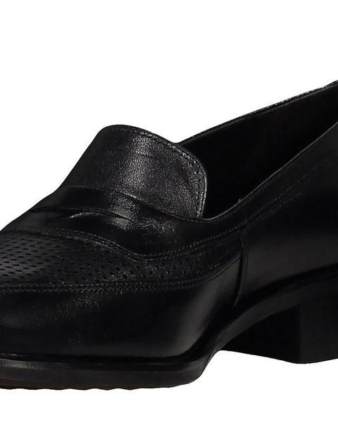 کفش چرم تخت زنانه - مشکي - 6