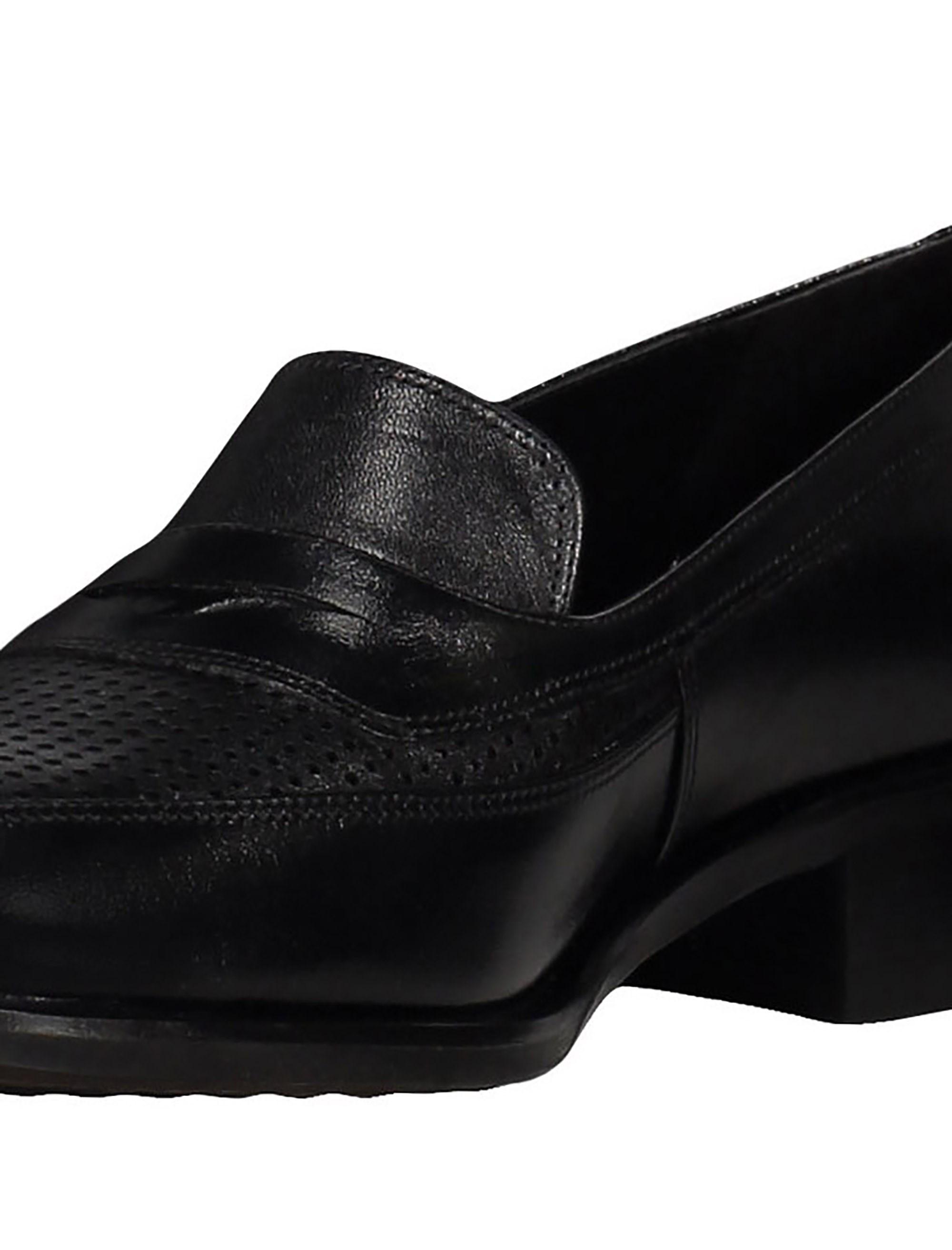 کفش چرم تخت زنانه - شهر چرم - مشکي - 6