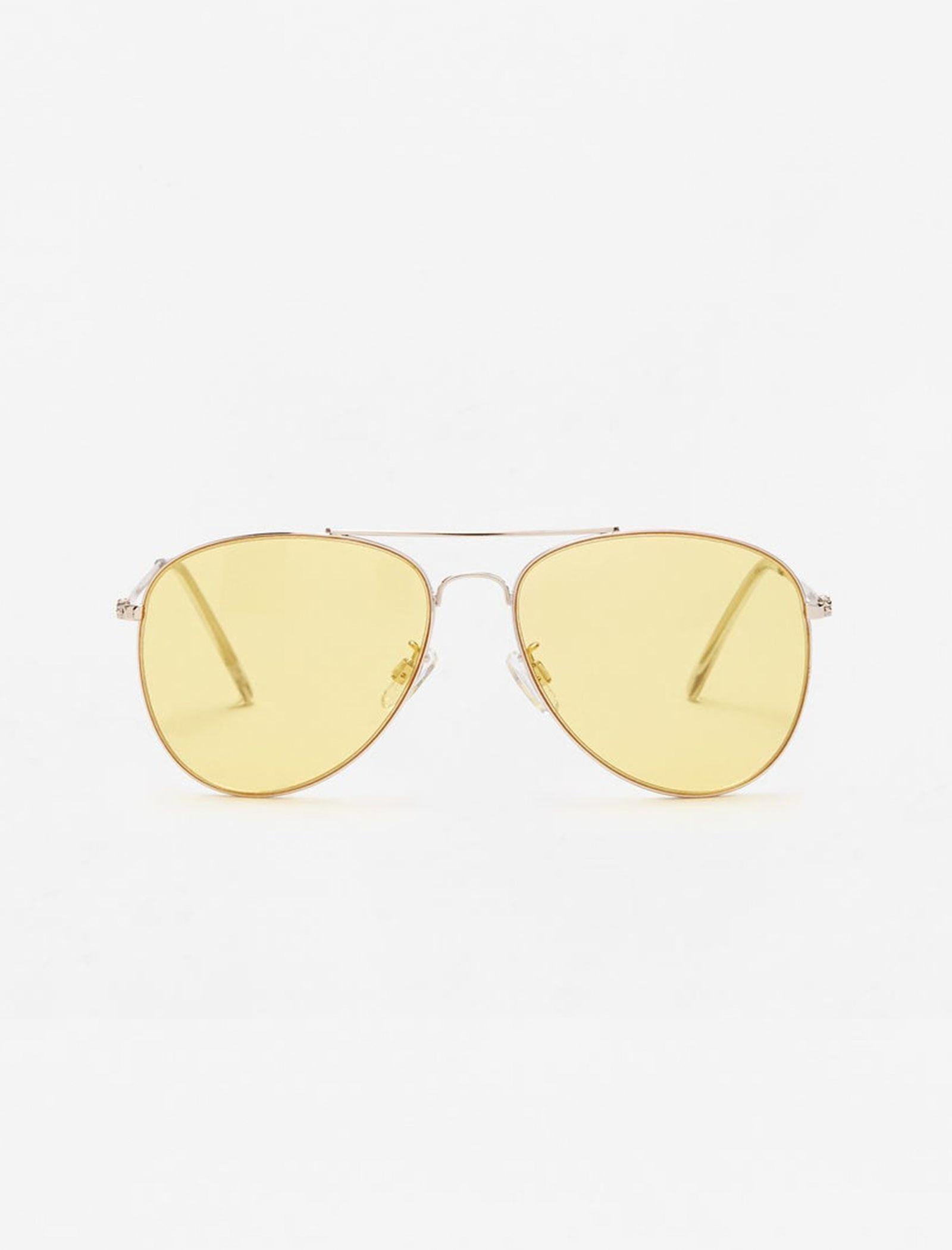 عینک آفتابی خلبانی زنانه - مانگو - طلايي - 1