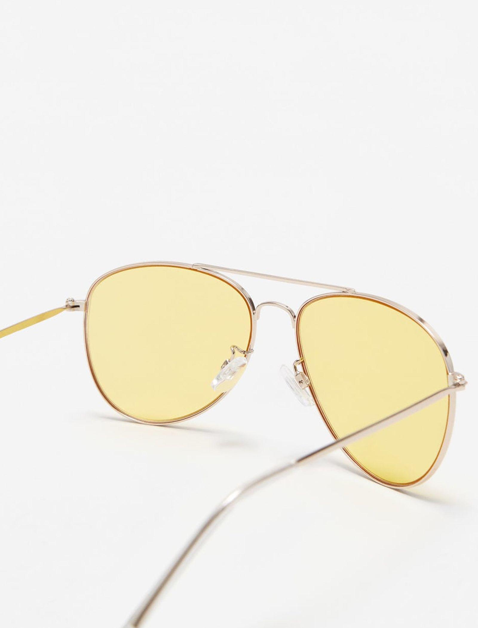 عینک آفتابی خلبانی زنانه - مانگو - طلايي - 2
