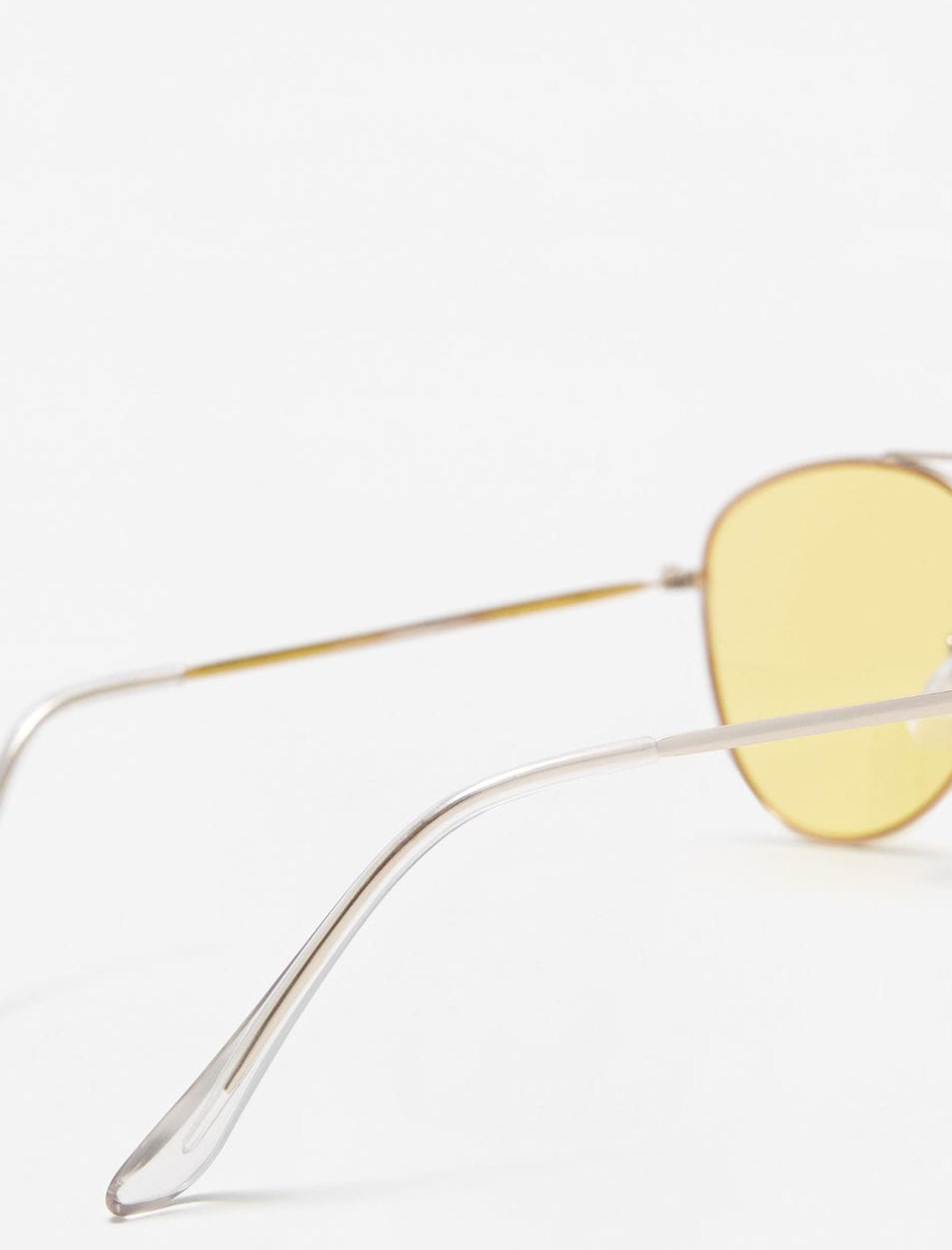 عینک آفتابی خلبانی زنانه - مانگو - طلايي - 3