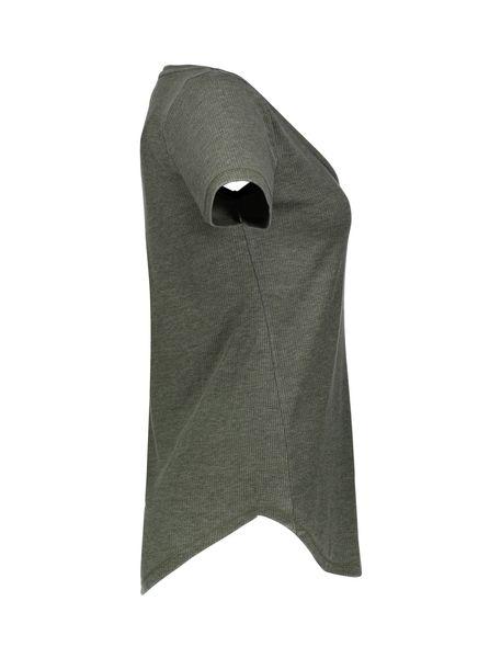 تی شرت یقه هفت زنانه - خاکستري - 3
