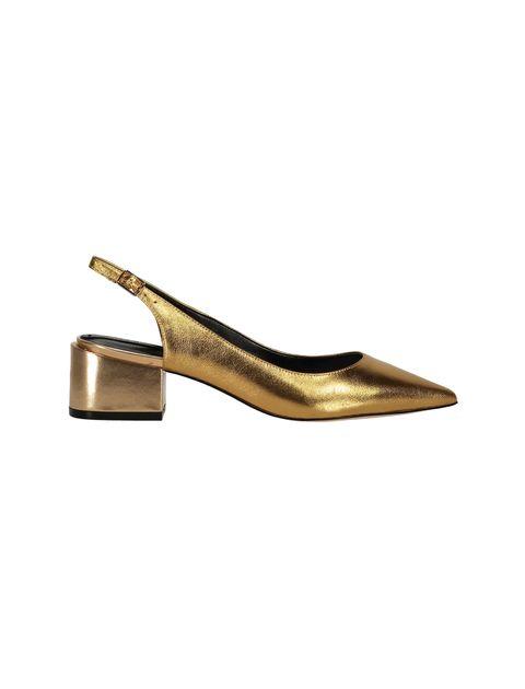 کفش پاشنه بلند چرم زنانه - آلدو - طلايي - 6