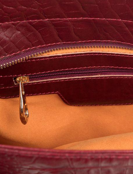 کیف دوشی چرم روزمره زنانه - زرشکي - 5