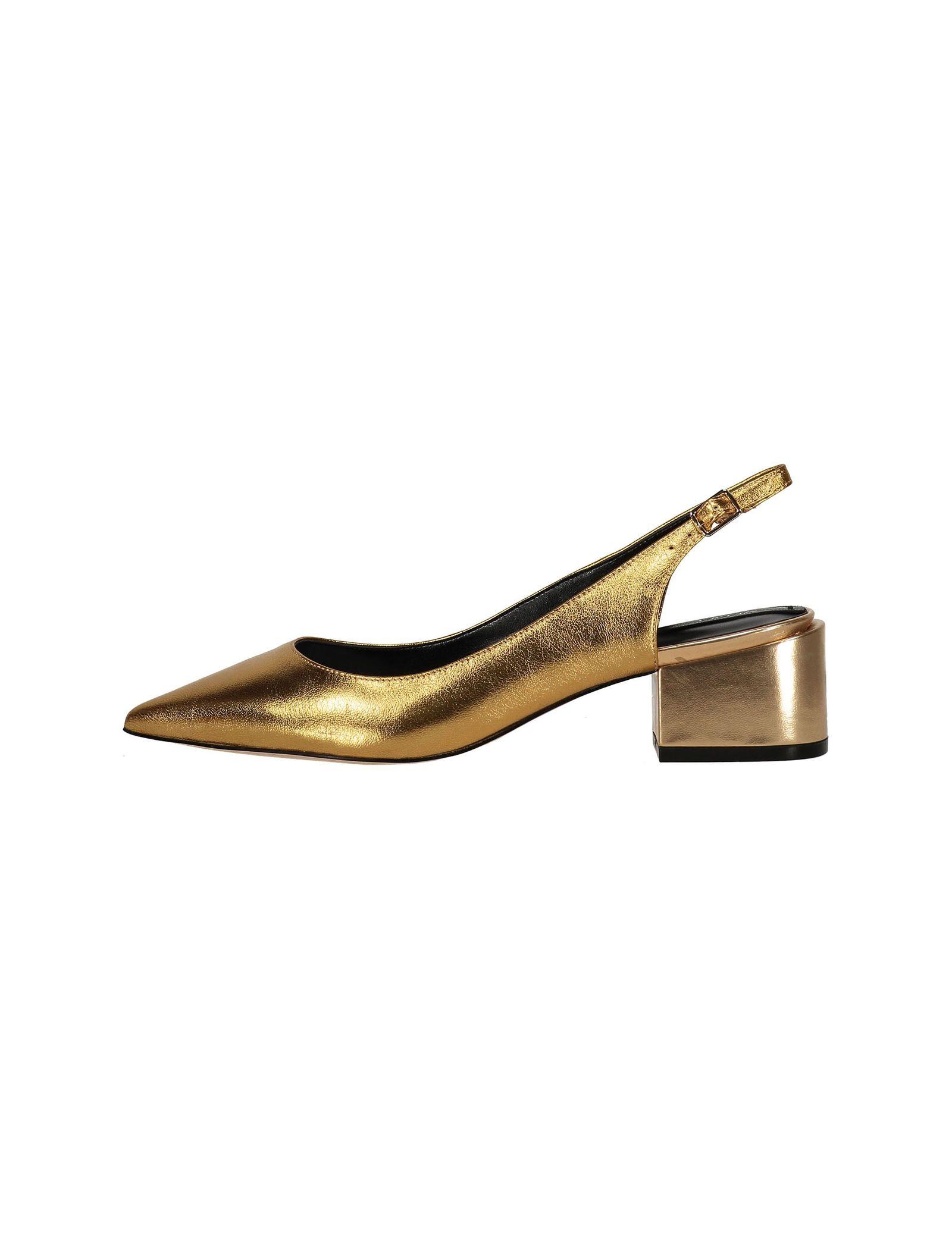 کفش پاشنه بلند چرم زنانه - آلدو - طلايي - 2
