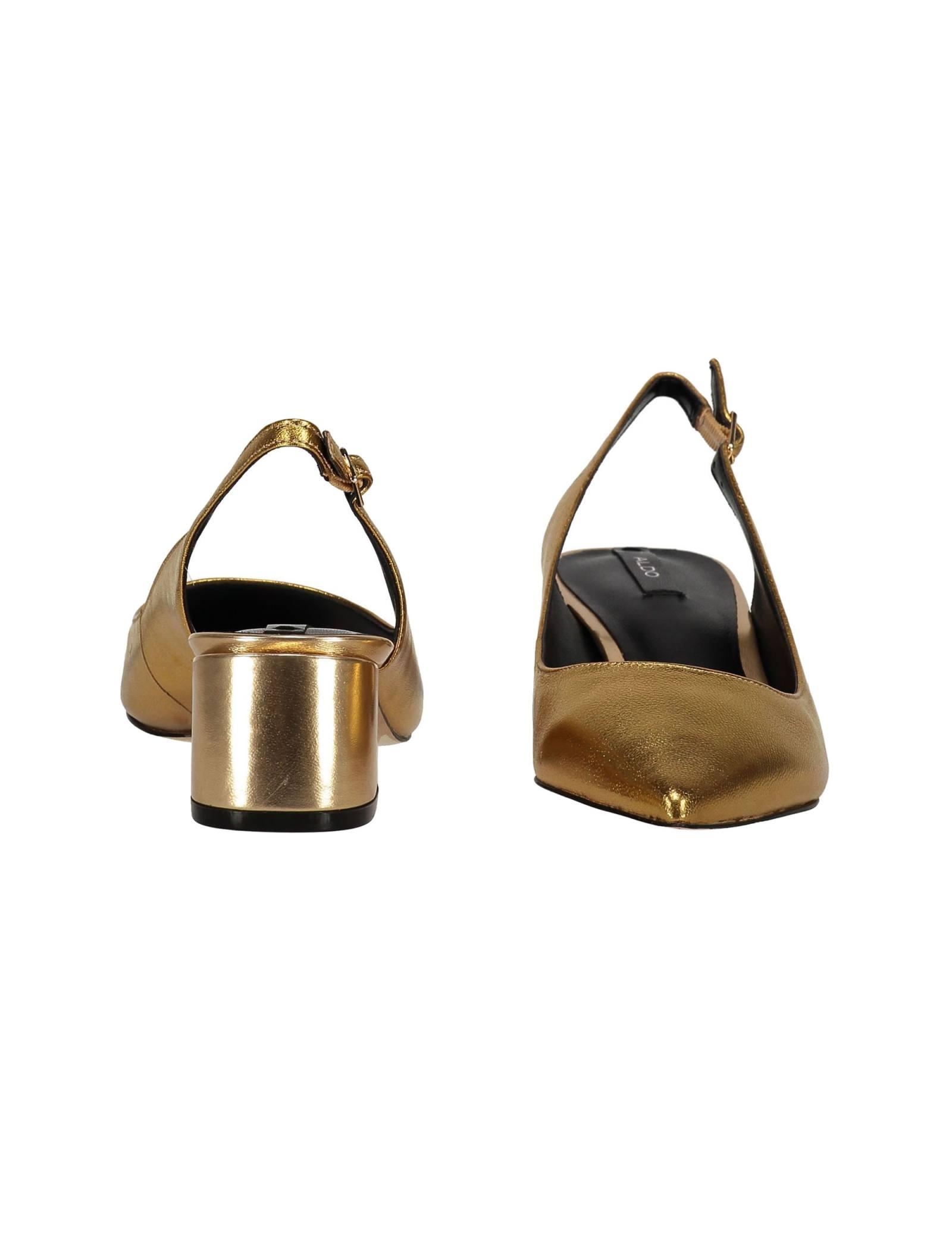 کفش پاشنه بلند چرم زنانه - آلدو - طلايي - 4