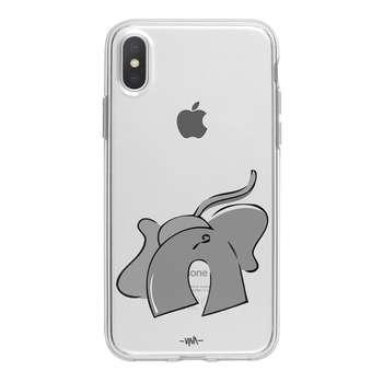 کاور ژله ای وینا مدل Big Gray مناسب برای گوشی موبایل آیفون X / 10