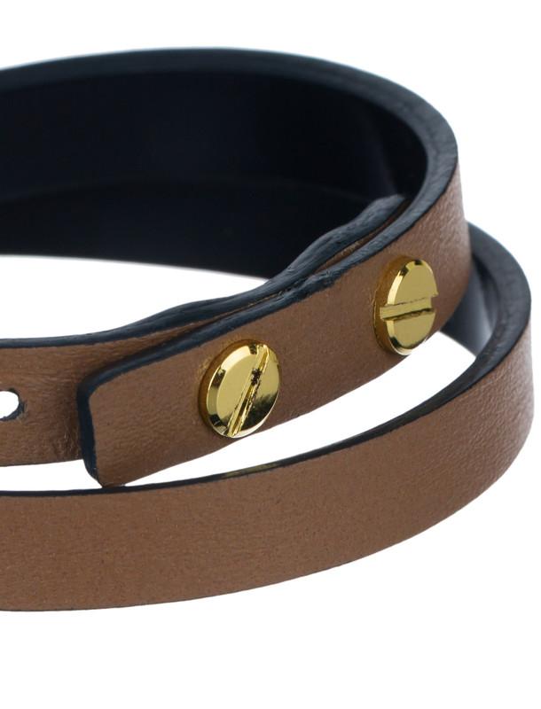 دستبند چرم زنانه - تاج درسا