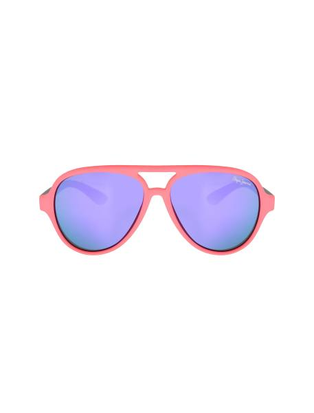 عینک آفتابی خلبانی بچگانه - طوسي و صورتي فسفري - 1