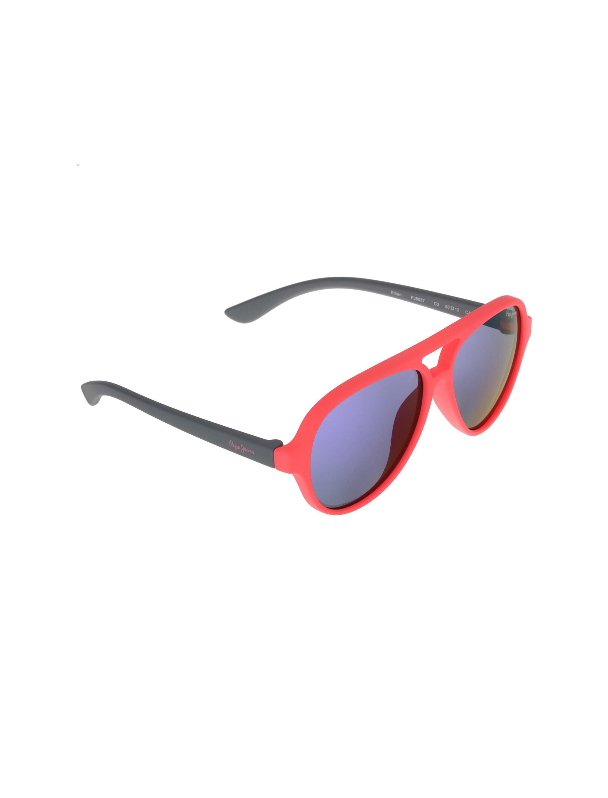 عینک آفتابی خلبانی بچگانه - طوسي و صورتي فسفري - 2