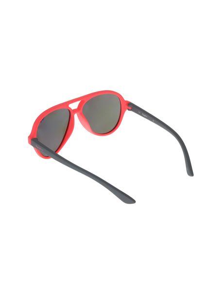 عینک آفتابی خلبانی بچگانه - طوسي و صورتي فسفري - 4