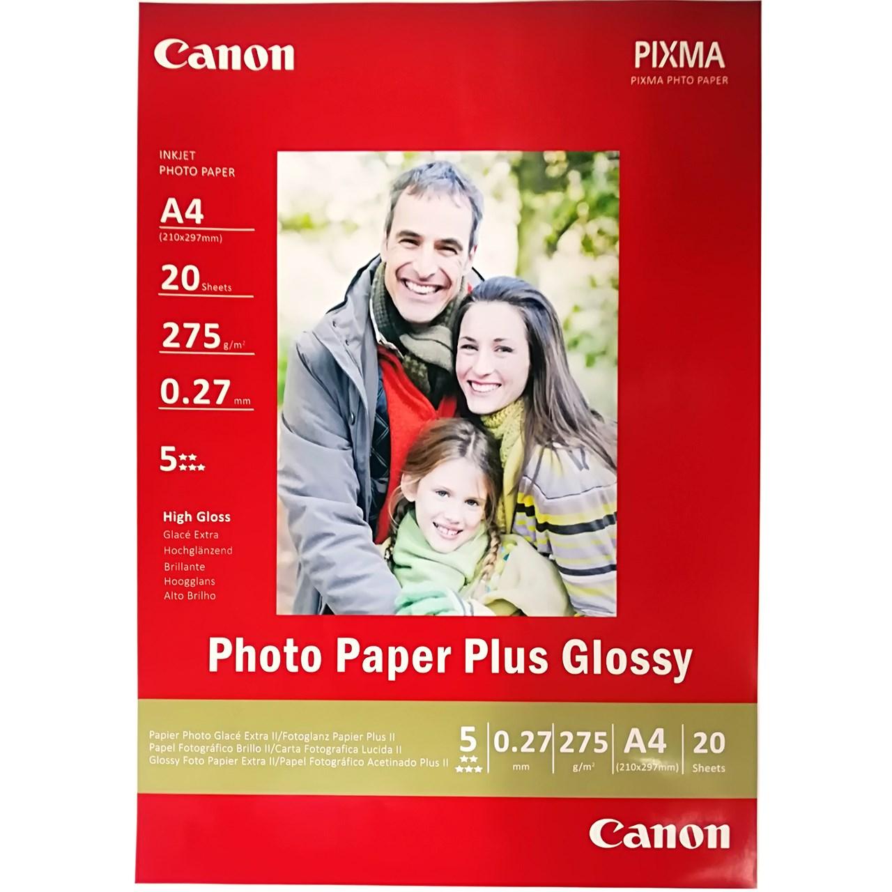 کاغذ عکس کانن مدل PLUS GLOSSY سایزA4 بسته 20 عددی