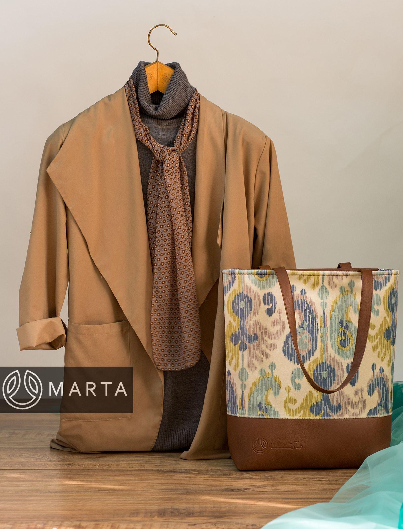 کیف دوشی روزمره زنانه - مارتا - قهوه اي - 7