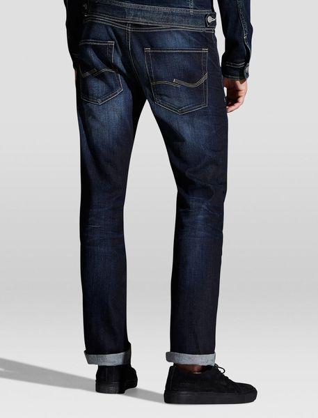 شلوار جین راسته مردانه - آبي - 5