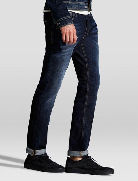 شلوار جین راسته مردانه - آبي - 6