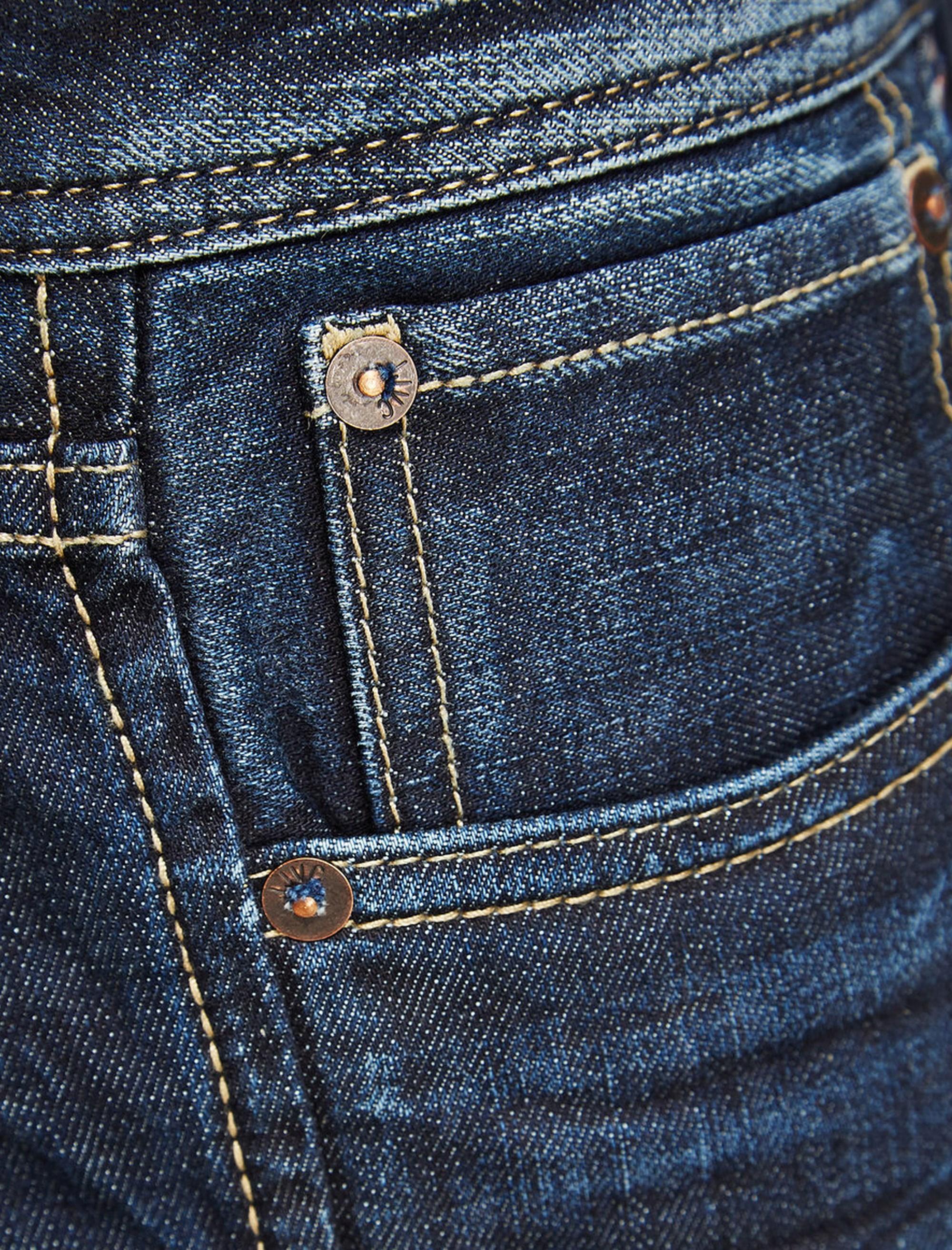 شلوار جین راسته مردانه - آبي - 8