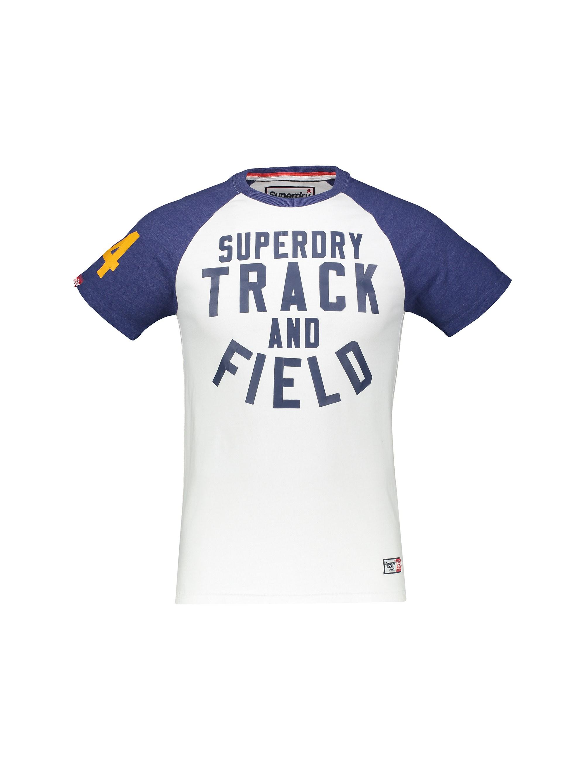 تی شرت نخی آستین کوتاه مردانه Track & Field - سوپردرای