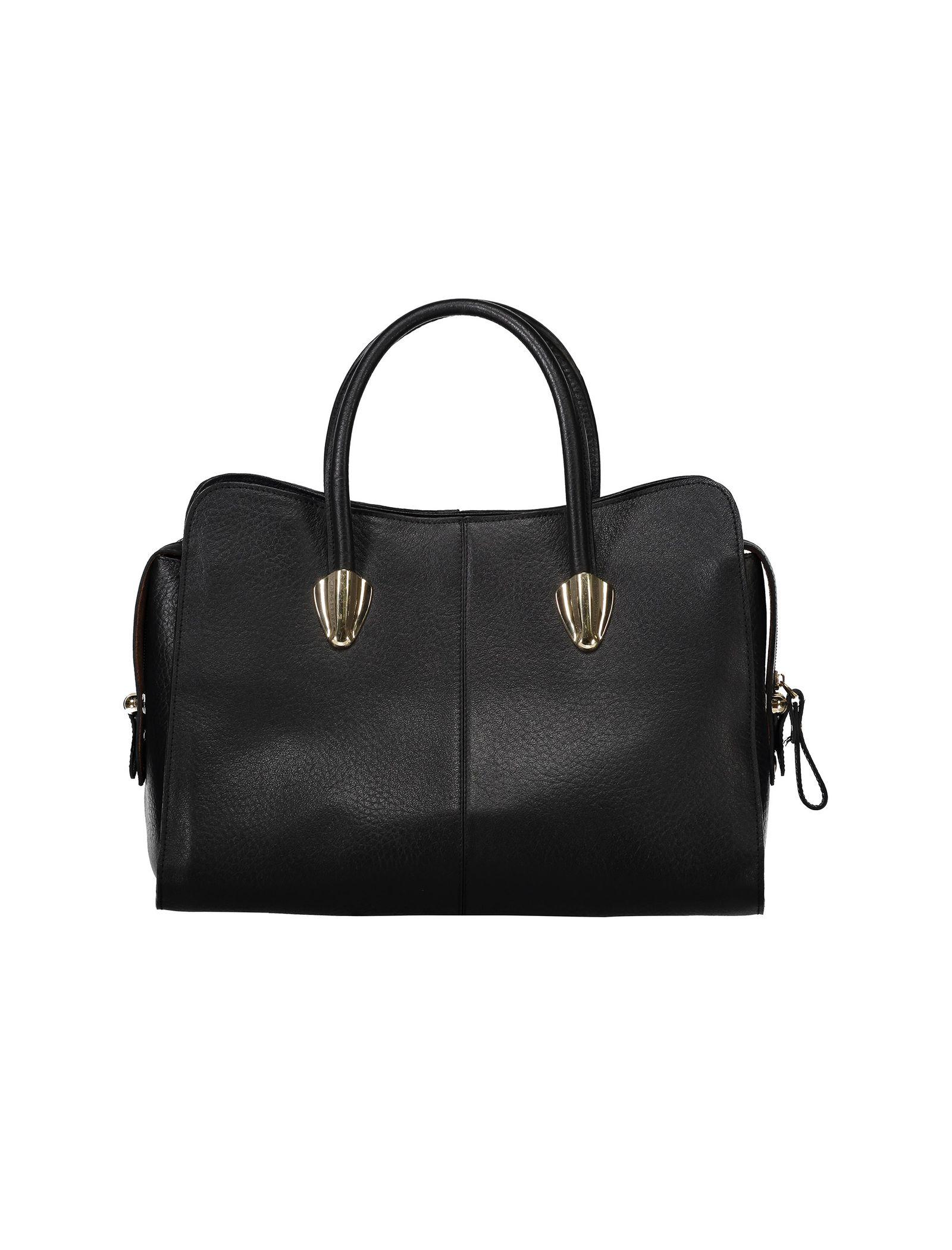 کیف دستی چرم روزمره زنانه - شیفر - مشکي - 2