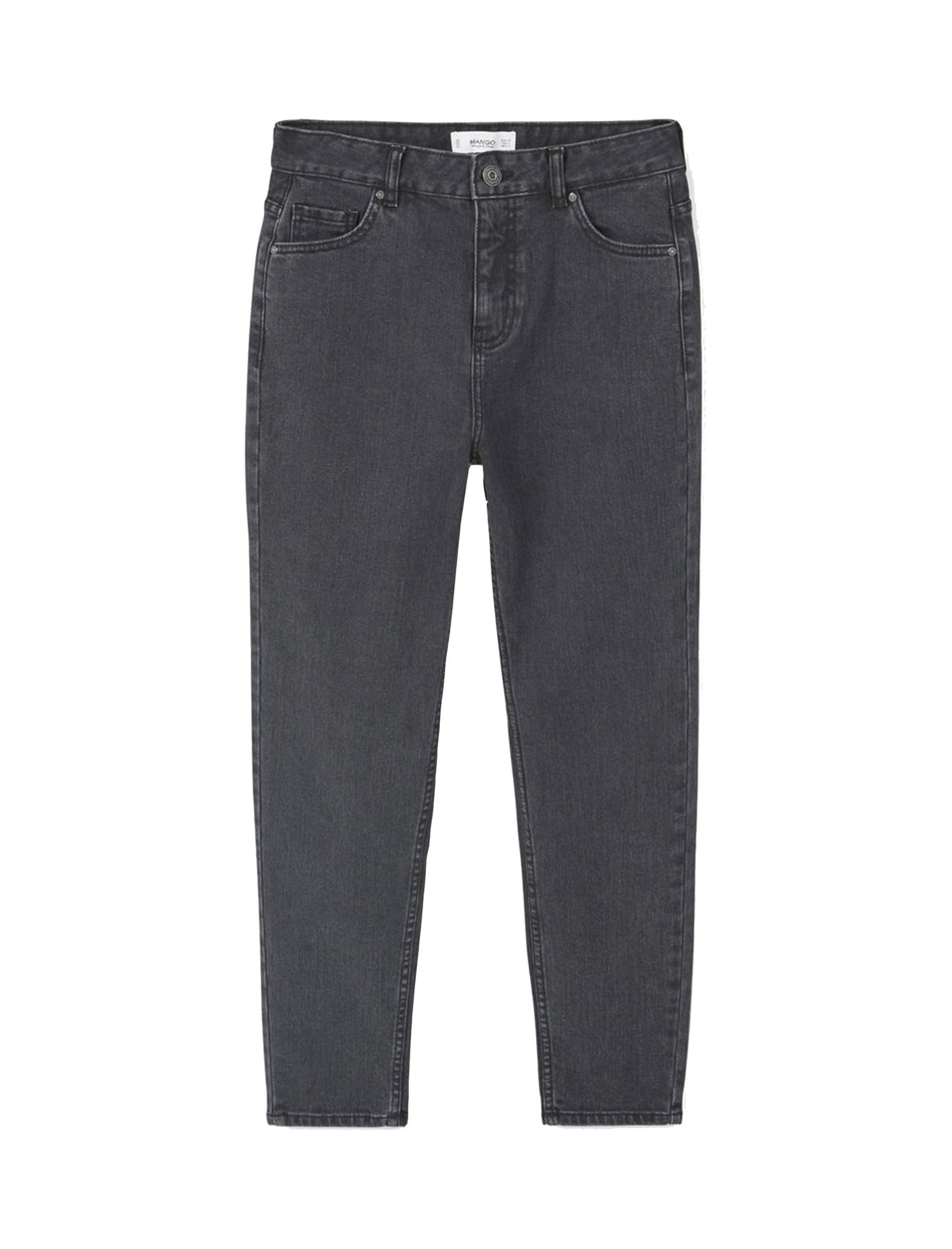 شلوار جین راسته زنانه - مانگو - زغالي - 1