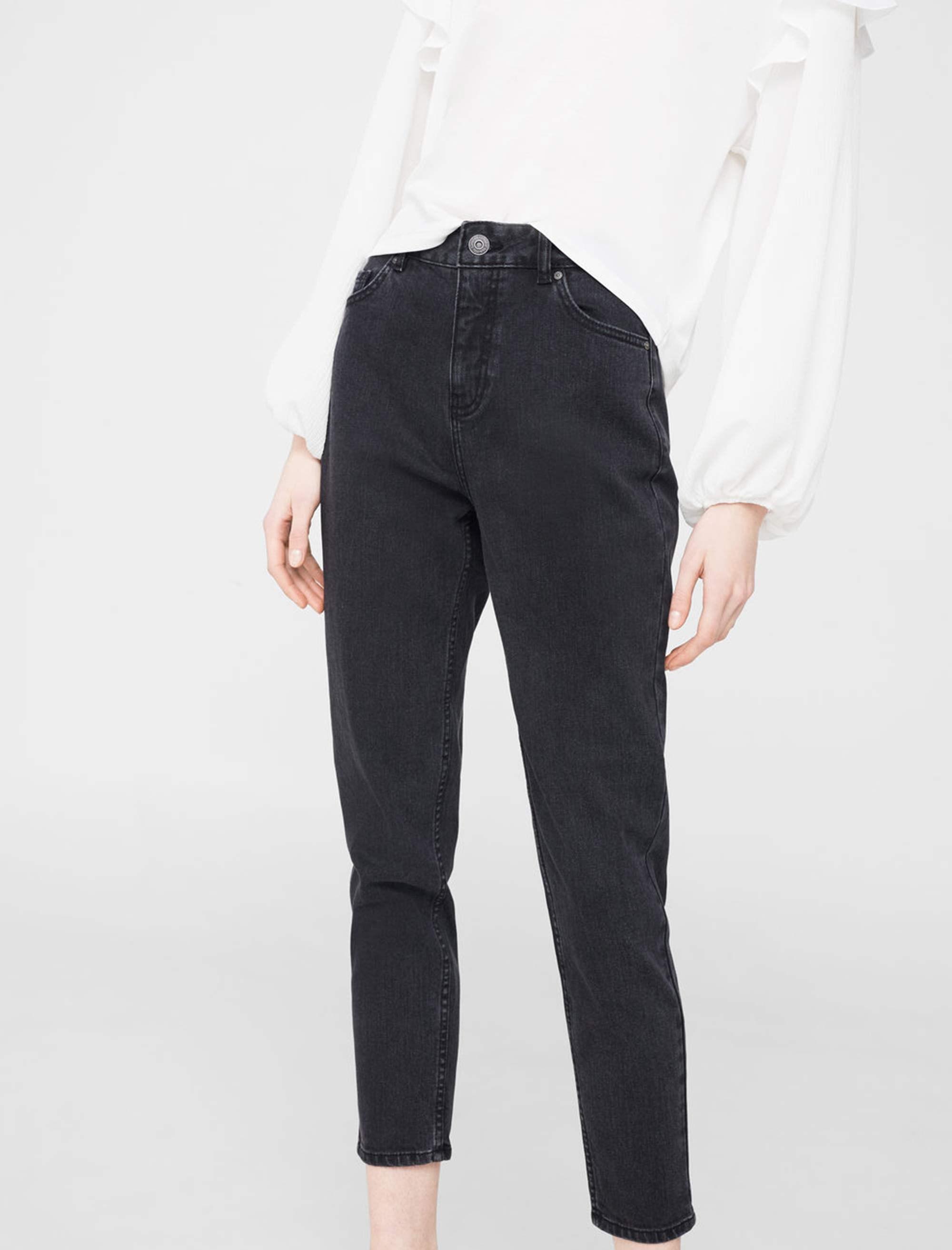 شلوار جین راسته زنانه - مانگو - زغالي - 2