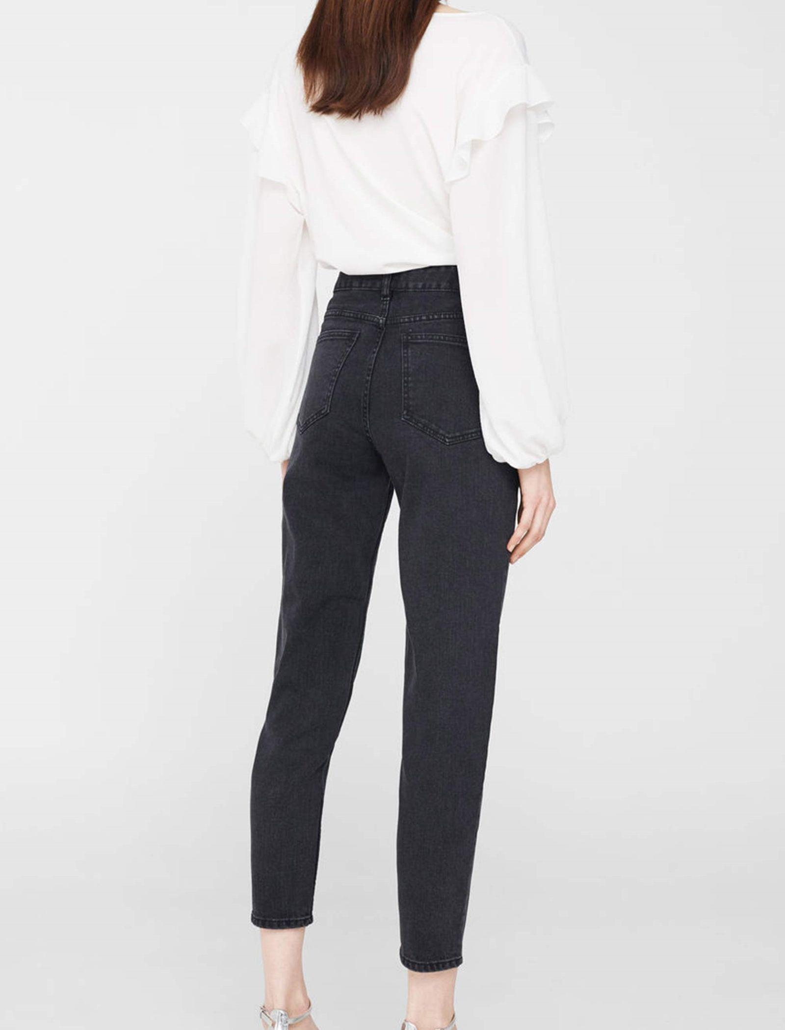 شلوار جین راسته زنانه - مانگو - زغالي - 3