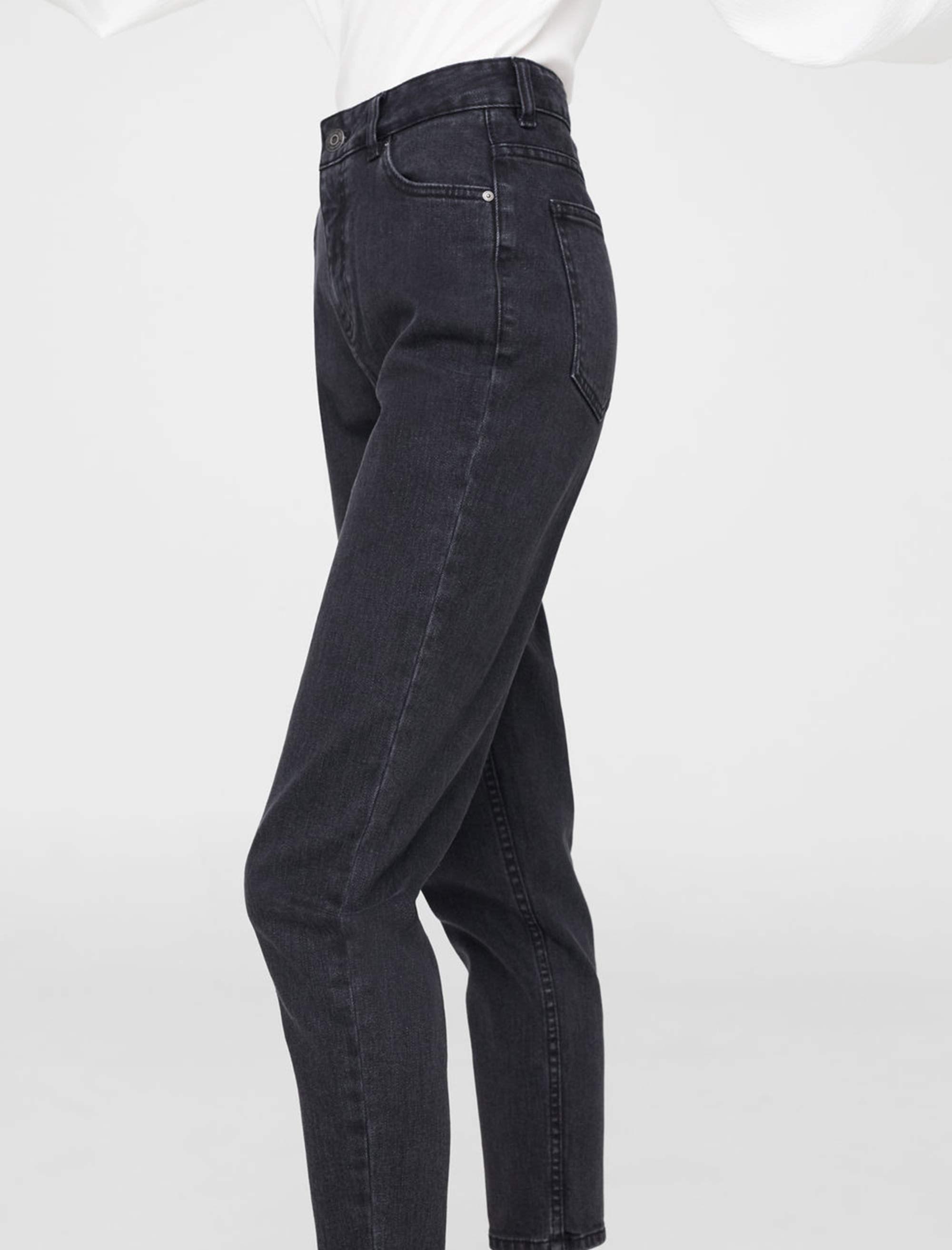 شلوار جین راسته زنانه - مانگو - زغالي - 4