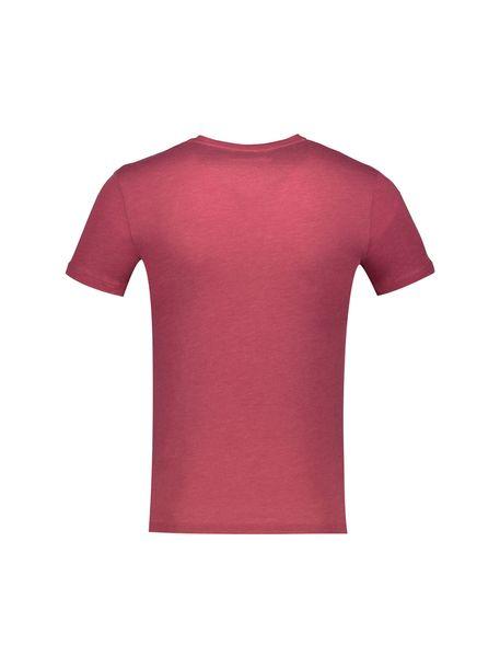 تی شرت نخی یقه هفت مردانه - قرمز - 2