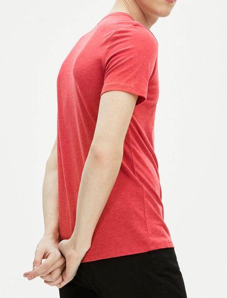 تی شرت نخی یقه هفت مردانه - قرمز - 5