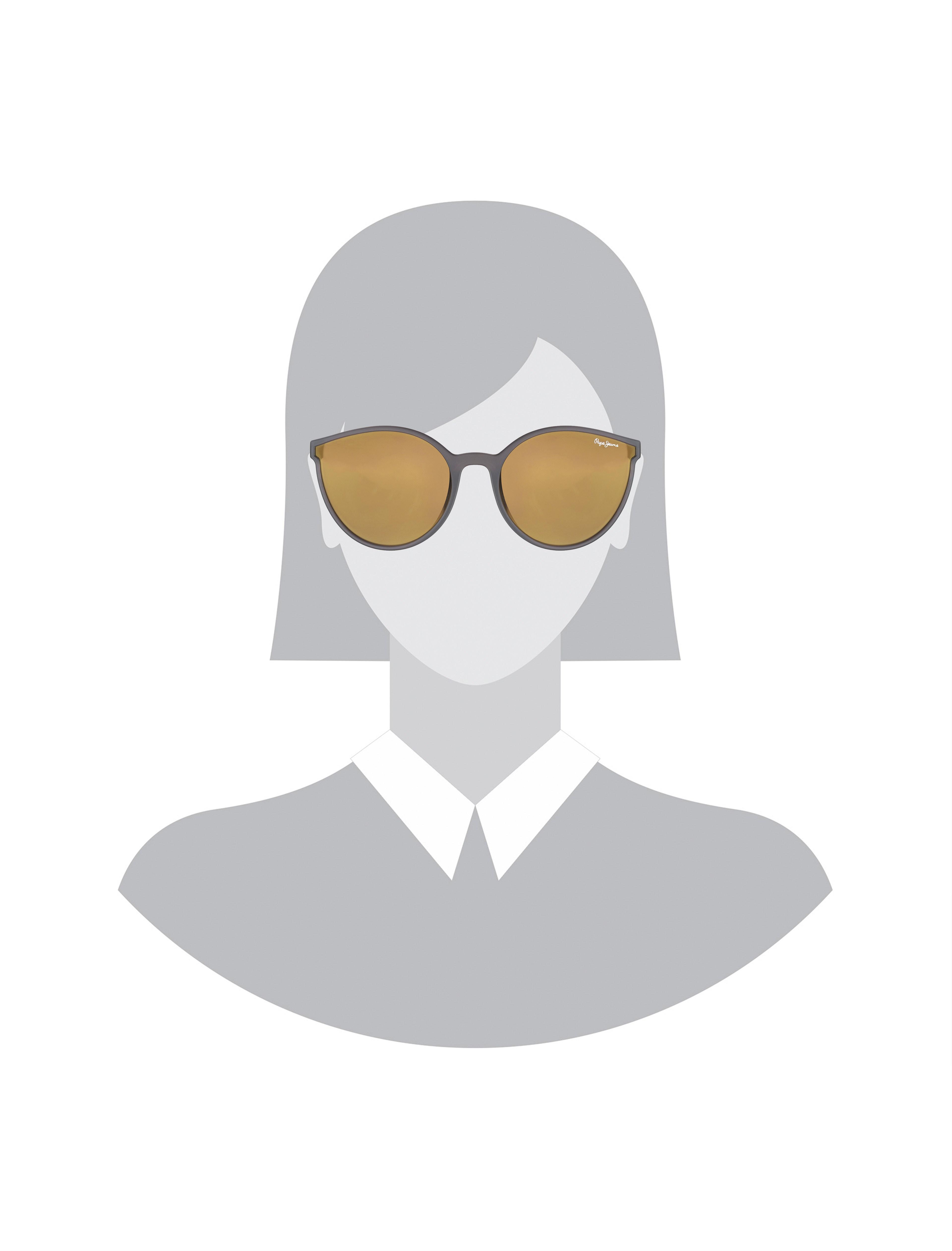 عینک آفتابی پروانه ای زنانه - پپه جینز - زغالي - 5