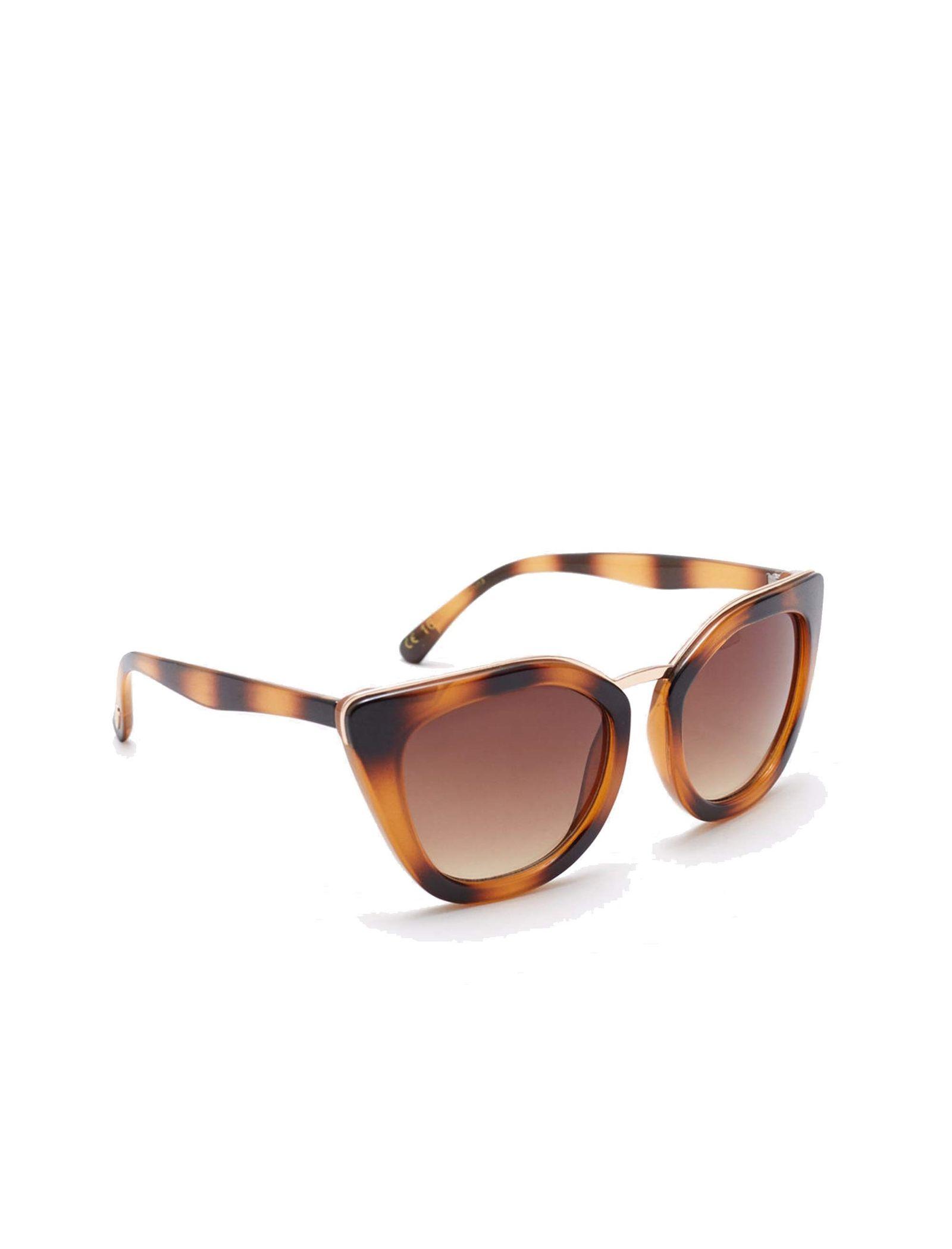 عینک آفتابی زنانه - مانگو - قهوه اي  - 2