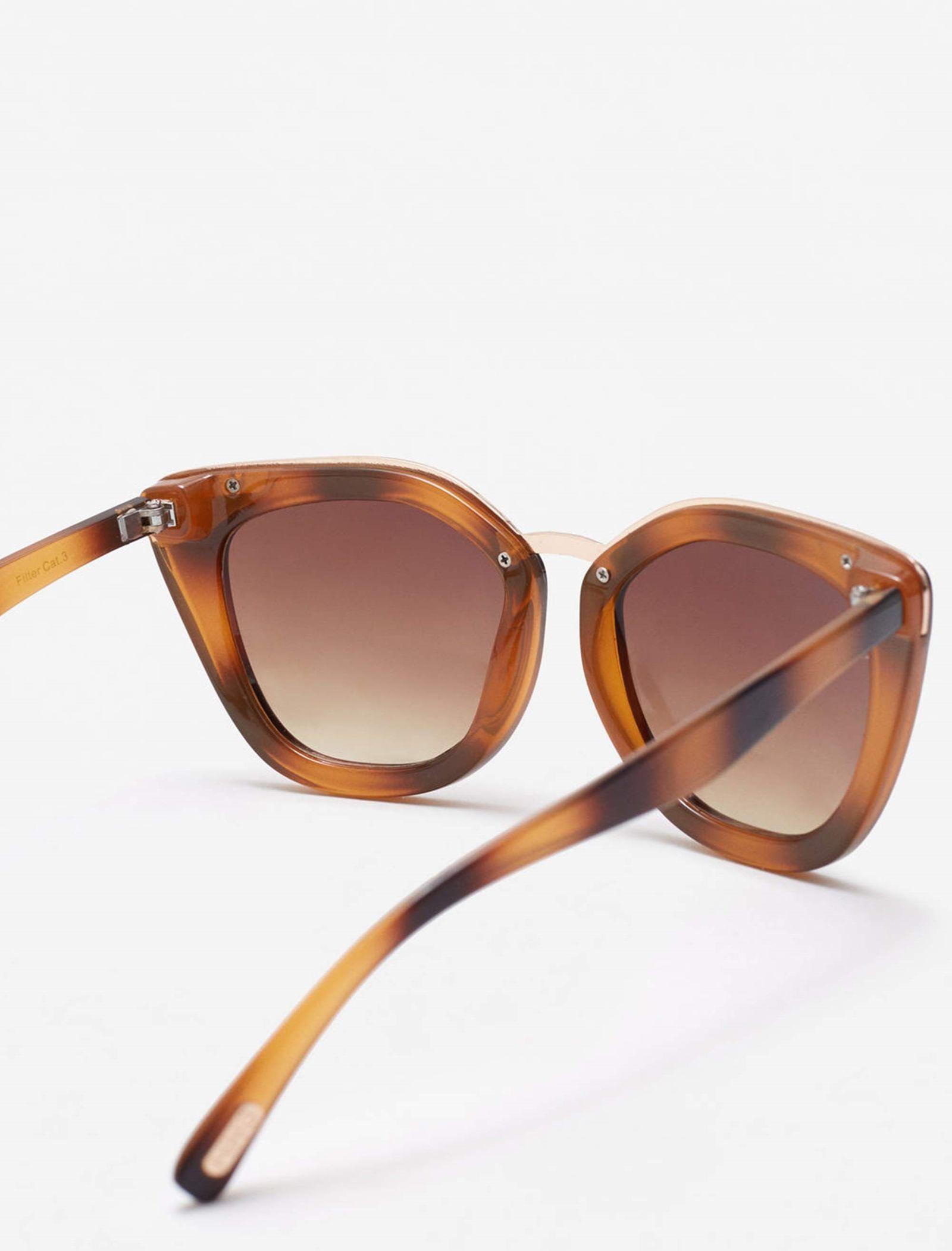 عینک آفتابی زنانه - مانگو - قهوه اي  - 3