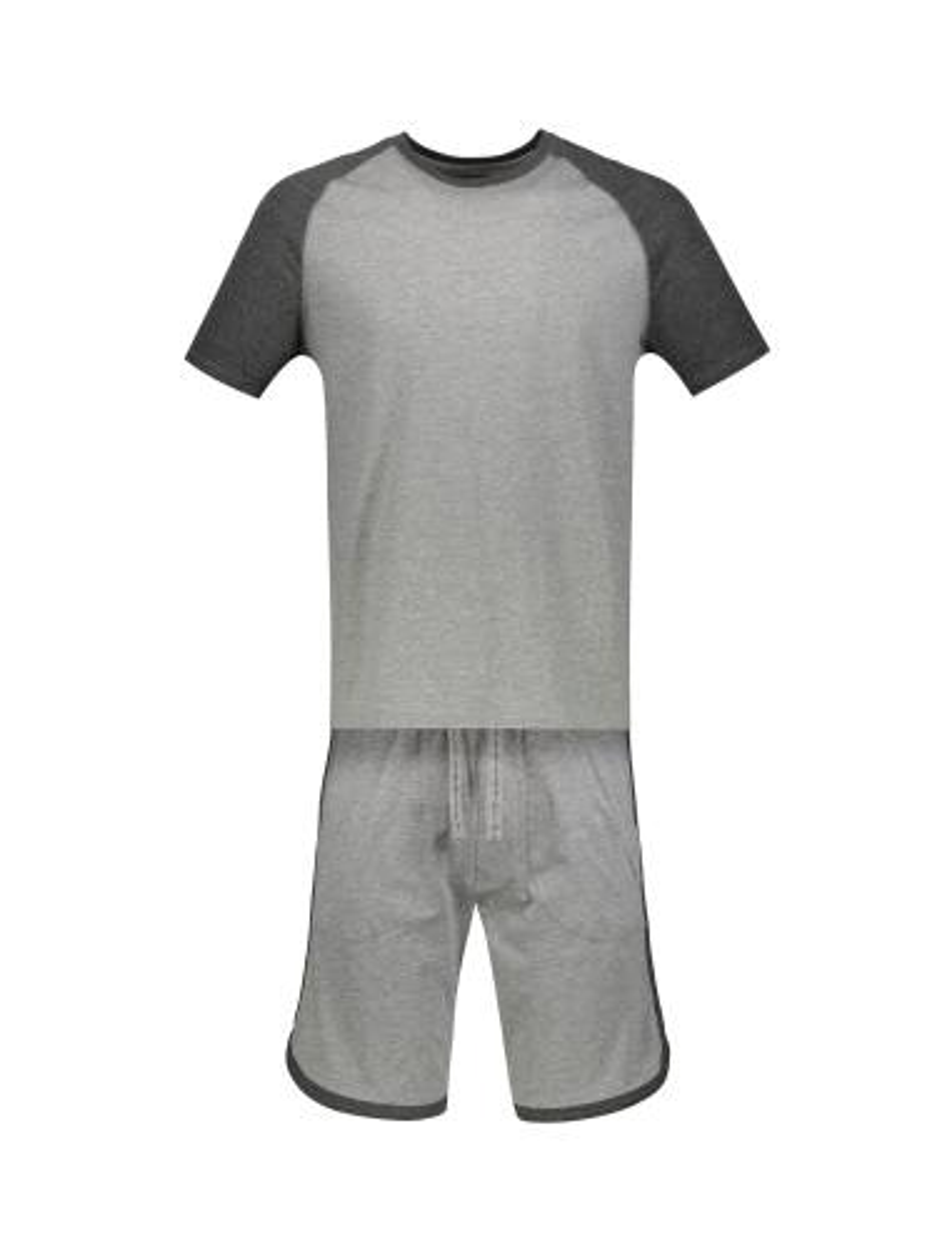 تی شرت و شلوارک راحتی نخی مردانه - سلیو