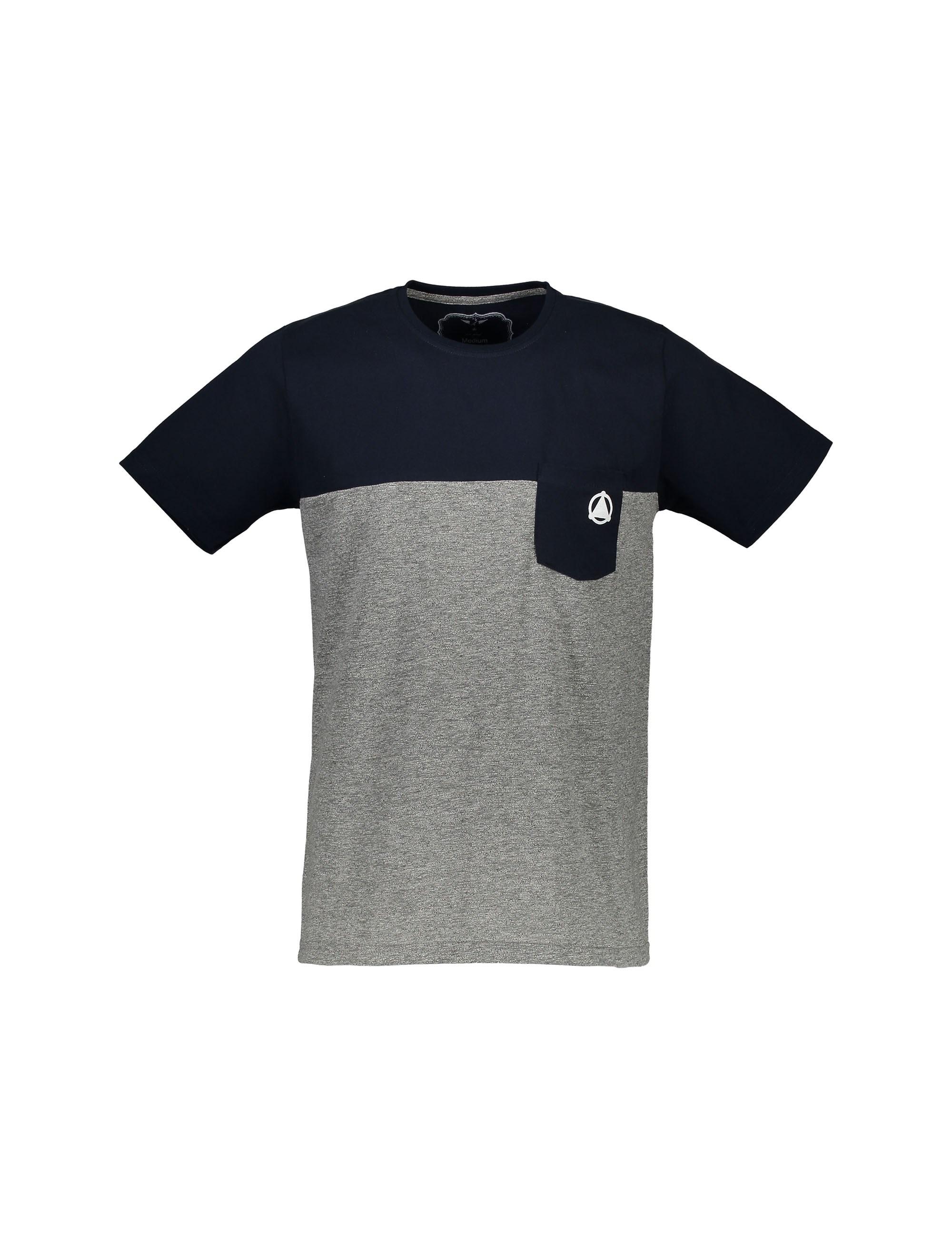 تی شرت نخی یقه گرد مردانه - تچر