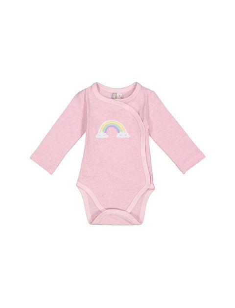 بادی و شلوار نخی نوزادی - صورتي  - 4