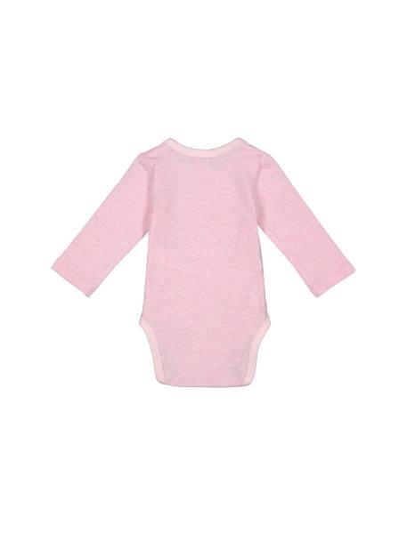 بادی و شلوار نخی نوزادی - صورتي  - 5