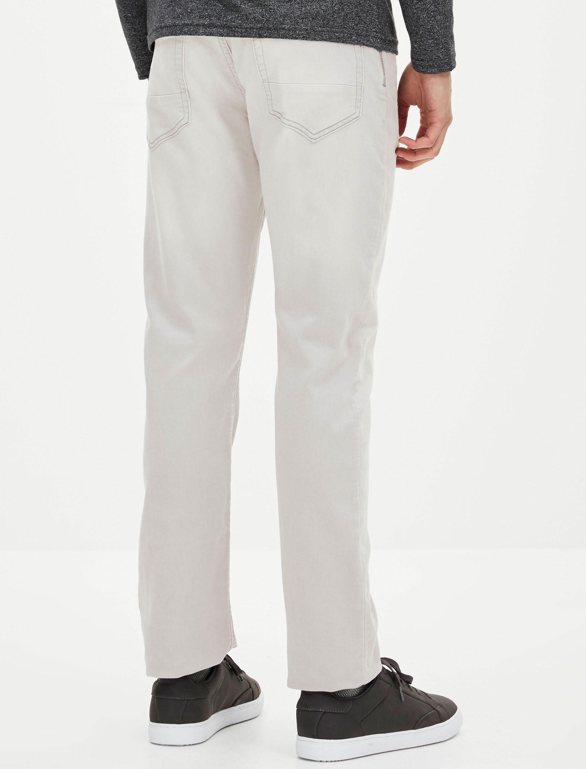 شلوار جین راسته مردانه - طوسي روشن - 5