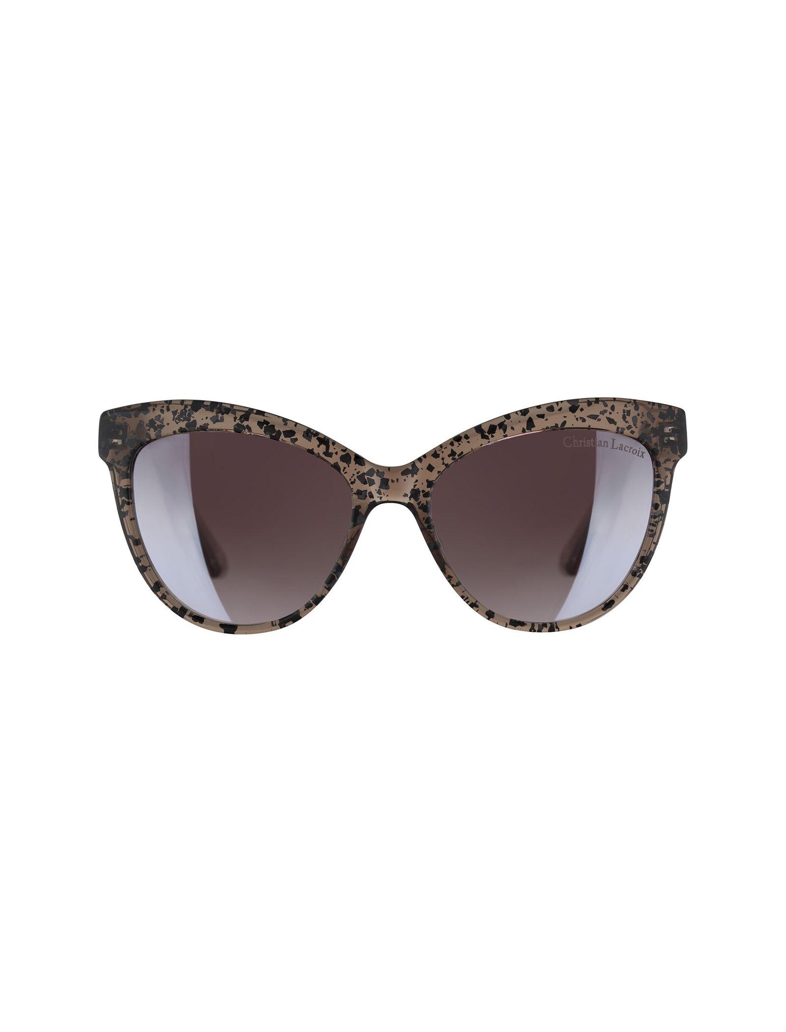 عینک آفتابی گربه ای زنانه - کریستین لاکروآ - کاراملي شفاف - 1