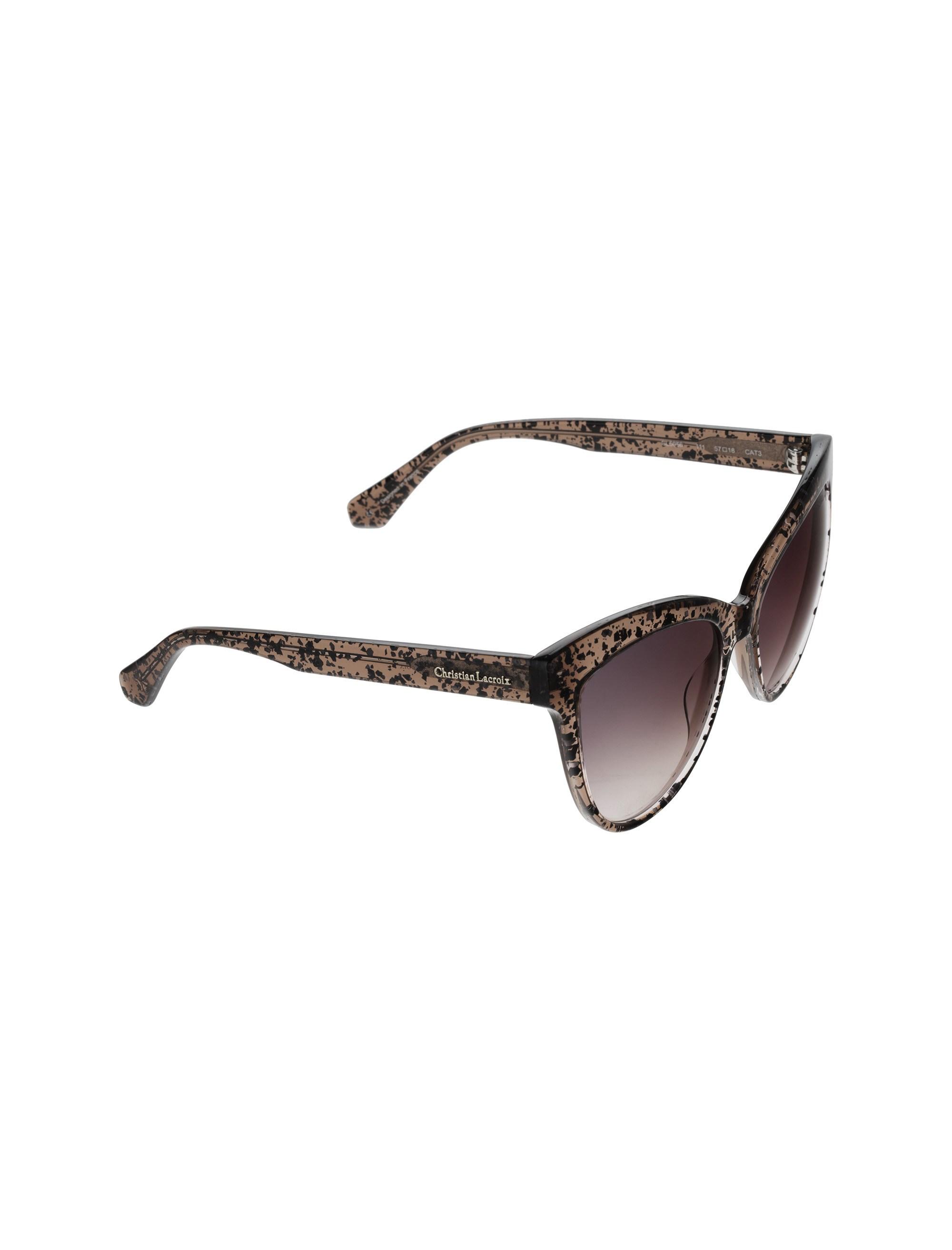 عینک آفتابی گربه ای زنانه - کریستین لاکروآ - کاراملي شفاف - 2
